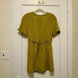 Zara TRF short dress mustard color Size S